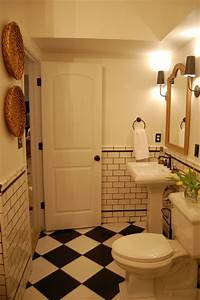 black and white vintage inspired bath With houzz black and white bathroom