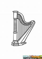 Harp Coloring Pages Results sketch template