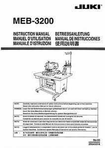 Meb-3200 Juki Instruction Manual