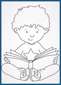 Dibujos Para Colorear Niños Leyendo ~ Ideas Creativas Sobre Colorear