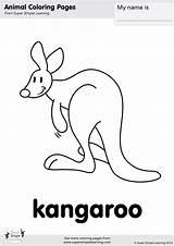 Kangaroo Coloring Zoo Simple Super Worksheets Animal Let Learning Supersimple Esl Flashcards Animals Songs Flashcard Farm Kindergarten Song Supersimplelearning Para sketch template