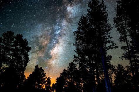 Long Exposure The Milky Way Stock Photo Image