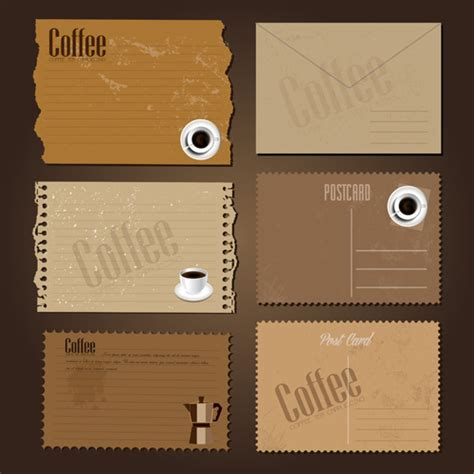 These efficient coffee card are very trendy and reliable. Coffee cards creative vector design 02 free download