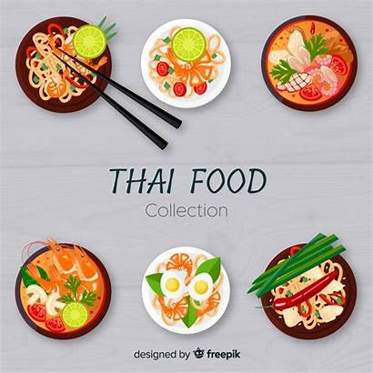 Thai Dishes Freepik Dish Vector Background Vectors