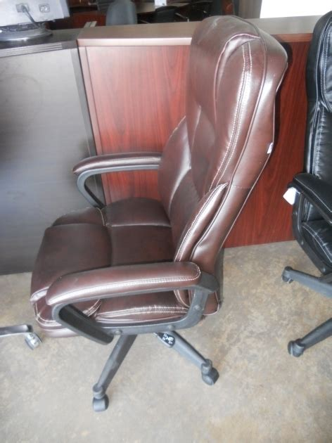 realspace fosner high back bonded leather chair executive