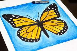 Oil Pastel Art Project - Monarch Butterfly - Art For Kids ...