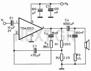 8 watts audio amplifier tda2003 circuit diagram world With transistor tip36 datasheet application note electronic circuit