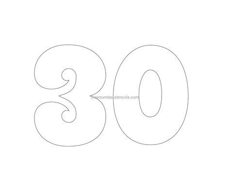 groovy  number stencil freenumberstencilscom