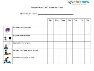 Behaviour Modification For Adhd by Elementary Behavior Chart For Adhd Travel