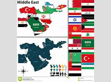 Political Map Of Middle East Stock Vector Image 49886304