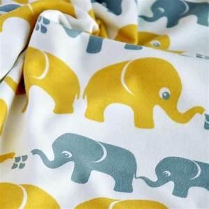 Jersey Stoffe Kinder : bio interlock elefanten gelb grau nosh organics bio jersey stoffe kinder stoffe pinterest ~ Markanthonyermac.com Haus und Dekorationen
