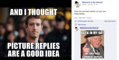 Memes For Facebook Comments - memes give facebook fans a voice amidst comment chaos techcrunch