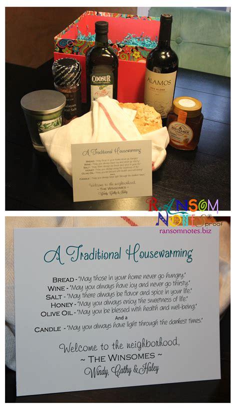 traditional housewarming gift   neighbors