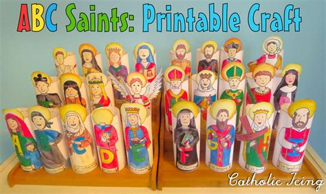 crafts printables activities and more for catholic 150 | catholic icings abc saints