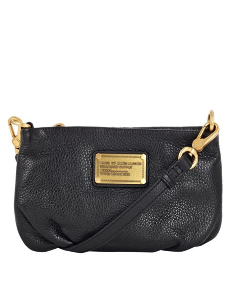lyst marc  marc jacobs black classic  percy crossbody bag  black