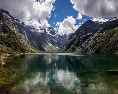 Zealand Natural Lake Mountain Marian Beauty Wallpapers13