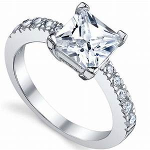 Silver diamond wedding rings for women silver diamond ring for Wedding rings not diamond