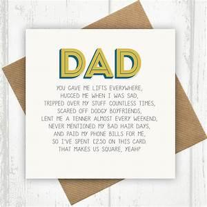 dad birthday card by paper plane | notonthehighstreet.com