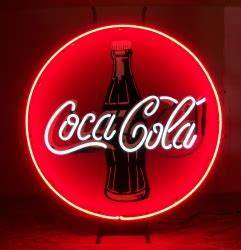 Coca Cola Coke Button Neon Bar Sign Light