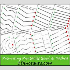 Free Prewriting Practice Solid & Dashed Printable Worksheets  Free Homeschool Deals
