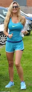 paddy mcguinness model wife christine flaunts  gym