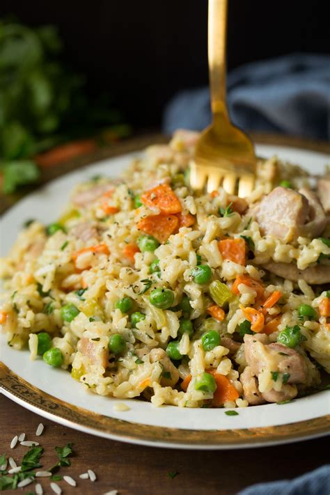 pan creamy chicken  rice cooking classy