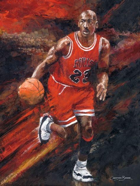 basketball legend michael jordan art painting print