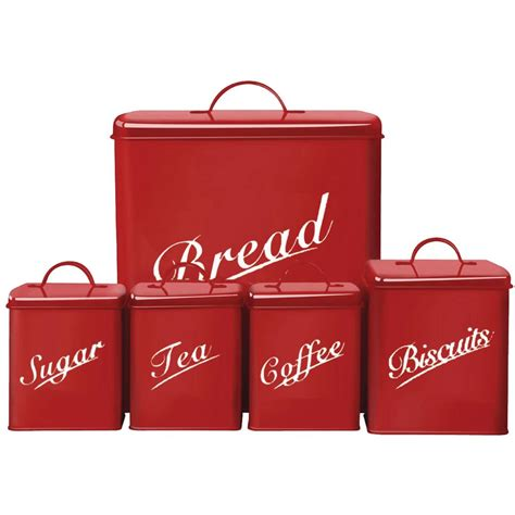 cheap kitchen canisters 5 canister set bread bin sugar coffee tea biscuits