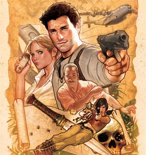 uncharted  wallpaper cast poster