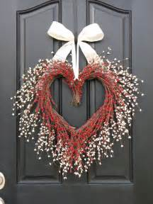 Valentine Wreaths Front Door