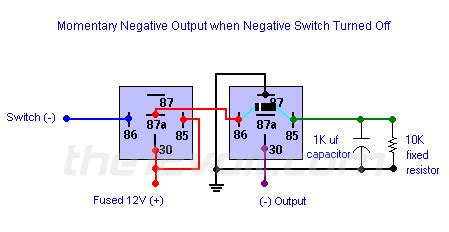 Neg Relay Switch Wiring Diagram by Momentary Negative Output When Negative Switch Turned