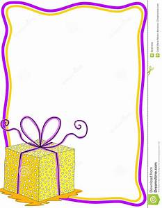 Gift Box Invitation Card With Frame Royalty Free Stock ...