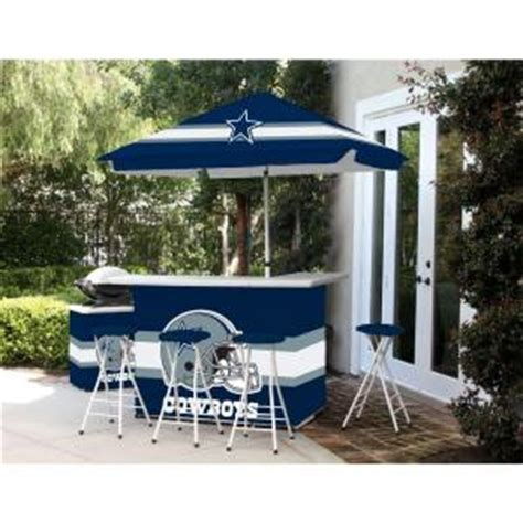 best of times dallas cowboys all weather patio bar set