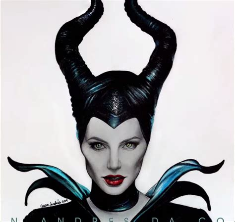 speed drawing angelina jolie  maleficent draw central