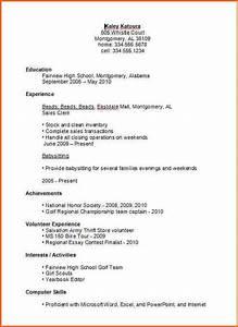 7 basic high school resume template budget template letter With basic resume for high school student