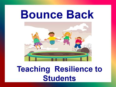 bounce back teaching resilience to students by