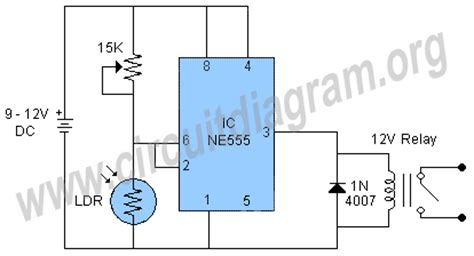 Light Activated Relay Switch Using Circuit Diagram