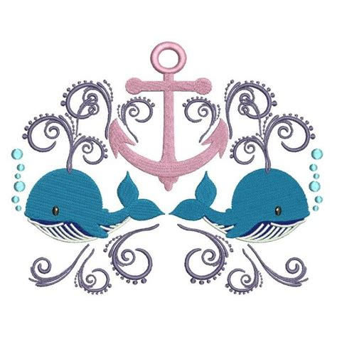 Boat Anchor Designs by Boat Anchor And Two Whales Marine Filled Machine