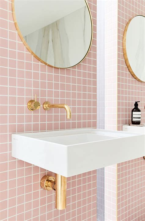 Pink Tile Bathroom Ideas by 15 Amazing Pink Tiled Bathrooms Apartment Number 4