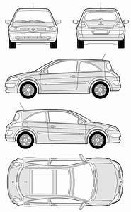 Dimension Megane 2  The Blueprints Cars Renault Renault