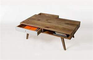 Made Com Table Basse : table basse esprit scandinave avec tiroirs ~ Dallasstarsshop.com Idées de Décoration