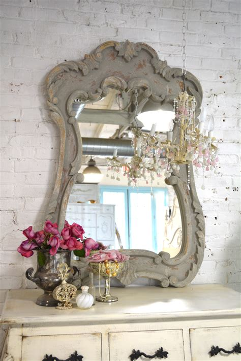 how to shabby chic a mirror shabby chic mirror