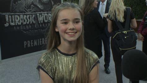 jurassic world 2018 maisie actress jurassic world fallen kingdom interview with isabella