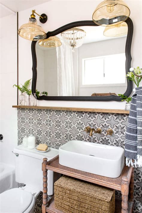 Fashioned Bathroom Mirrors by 30 Best Cottage Style Bathroom Ideas And Designs For 2019