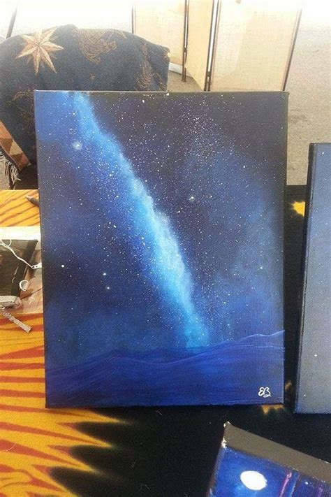 Galaxy Painting Milky Way Cosmic Decor Night Sky