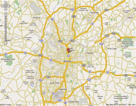 atlanta map online map