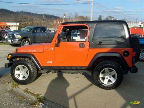 jeep wrangler orange 2017 impact orange 2006 jeep wrangler rubicon 4x4 exterior