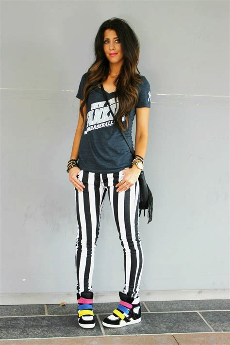 dressy casual  black  white stripes  girl