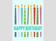 Lively Birthday Candle Card Birthday & Greeting Cards by