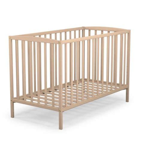 chambre b2b2 at4 lit à barreaux bébé brut 60x120 cm bois brut achat